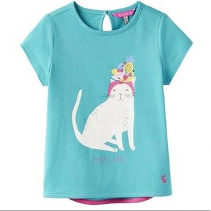 NWT Joules Aqua Tropi-Cool Cat T Shirt
